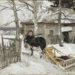 Коровин Зимой 1894 х на к м 37.2х52.5 ГТГ