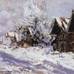 Коровин Зимой 1914 к гуашь 33х47 Гос музей-заповедник Ростовский Кремль