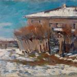 Коровин Охотино Весна 1919 хм 67х89 Частная коллекция
