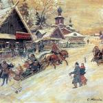 Коровин Россия Праздничгое гуляние 1930е к темп 33х40 ГТГ