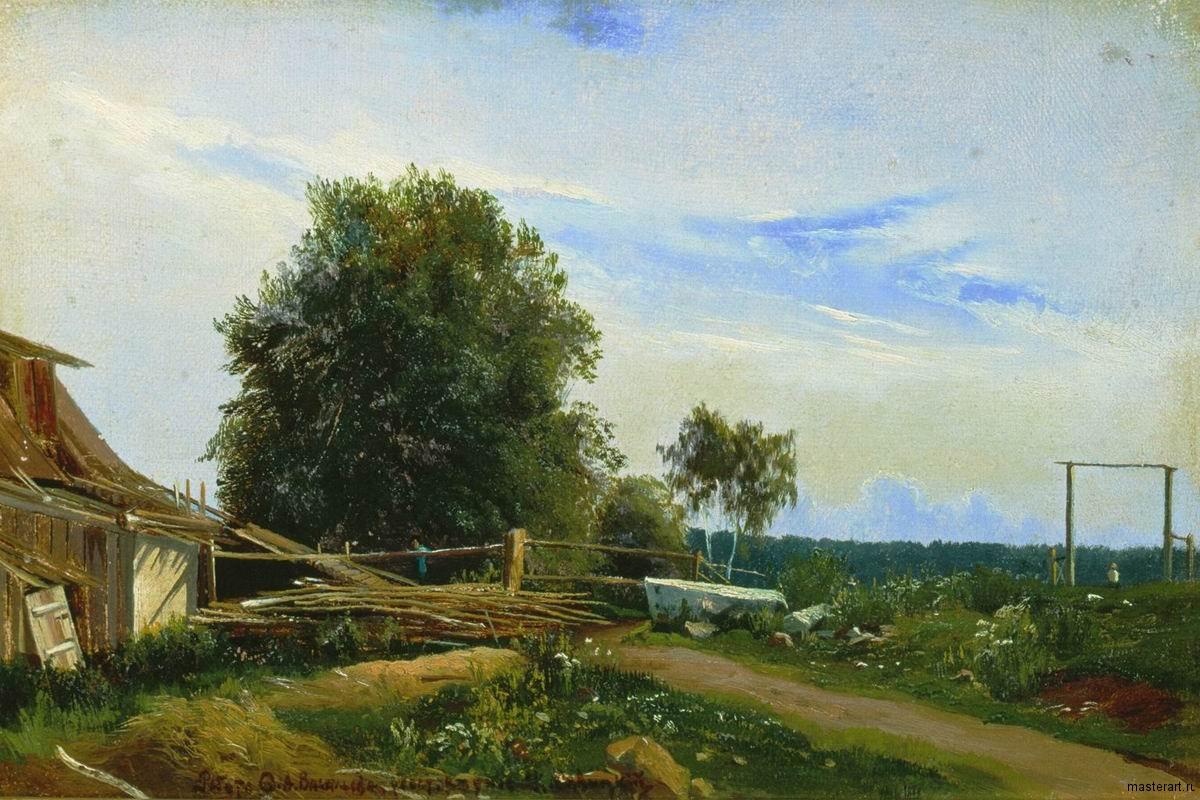 Гумно 1868 хм 27х39 Ульяновский областной художественный музей