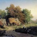Деревня 1869 хм 61х82.5 ГРМ