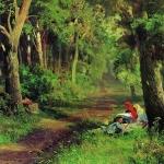 Дорога в лесу 1867-1869 хкм 26.5х35 ГТГ