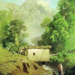 Крымский пейзаж 1871-1873 бкм 26х18.5 ГТГ