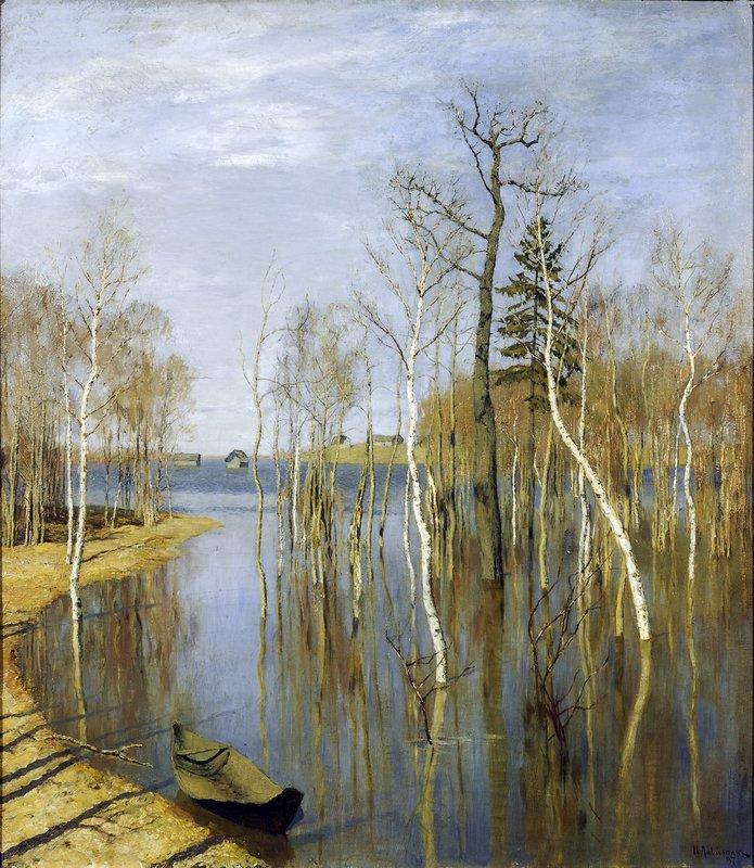 Левитан ИИ  Весна Большая вода 1897  хм 64.2х 57.5 ГТГ