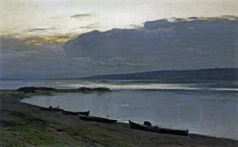 Левитан ИИ  Вечер на Волге 1888  хм 50х81 ГТГ