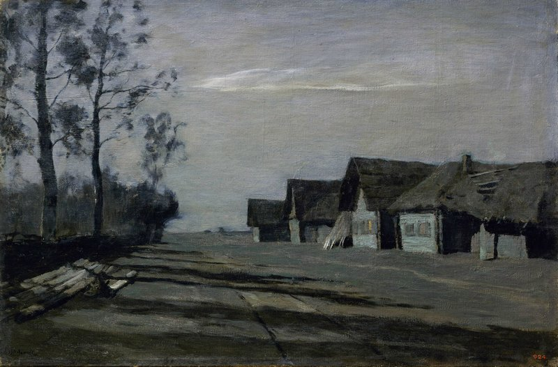 Левитан ИИ  Лунная ночь Деревня 1897  хм 60х90 ГРМ