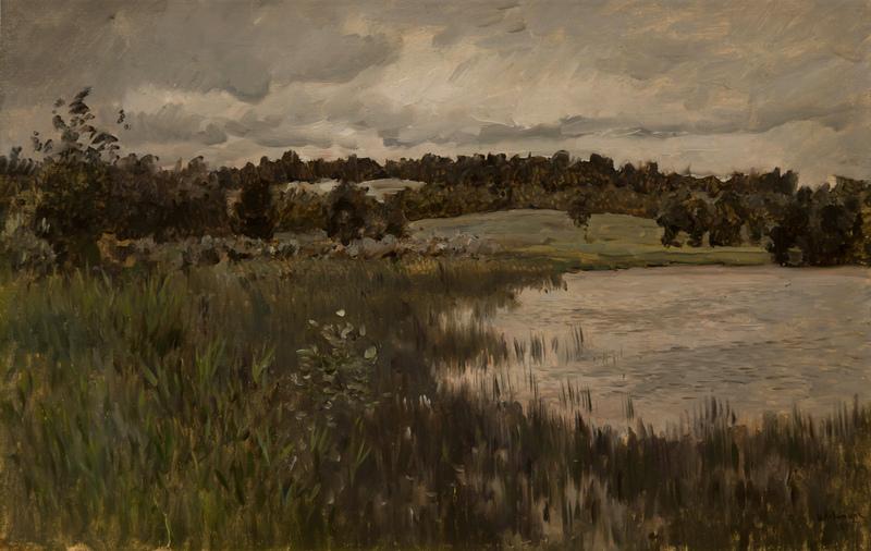 Левитан ИИ Серый день 1895 хм 43х67 Смоленский гос музей-заповедник