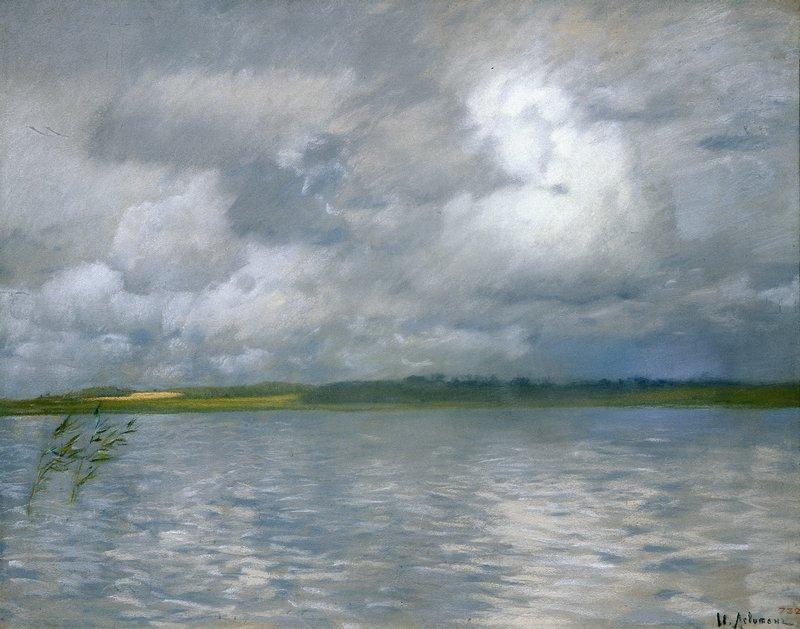 Левитан ИИ  Хмурый день (Озеро Серый день)  1895  б пастель 48х62  ГРМ