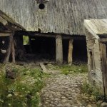 Левитан ИИ  Ветхий дворик Плес 1888-90  хм 40х62  ГТГ