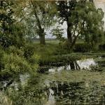 Левитан ИИ  Заросший пруд 1887  бхм 31х41  ГРМ