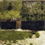 Левитан ИИ Первая зелень Май 1883-88 хм 42х58 ГТГ