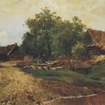 Левитан ИИ  Саввинская слобода под Звенигородом 1884  хкм 33х52  ГТГ