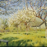 Левитан ИИ  Цветущие яблони 1896  хм тушь перо 37х50  ГТГ