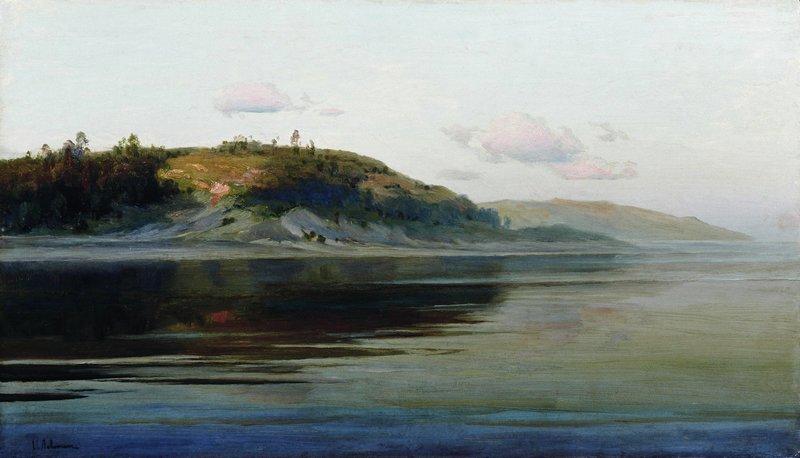 Левитан ИИ Летний вечер Река 1890-96 дм 41х71 Чувашский государственный художественный музей