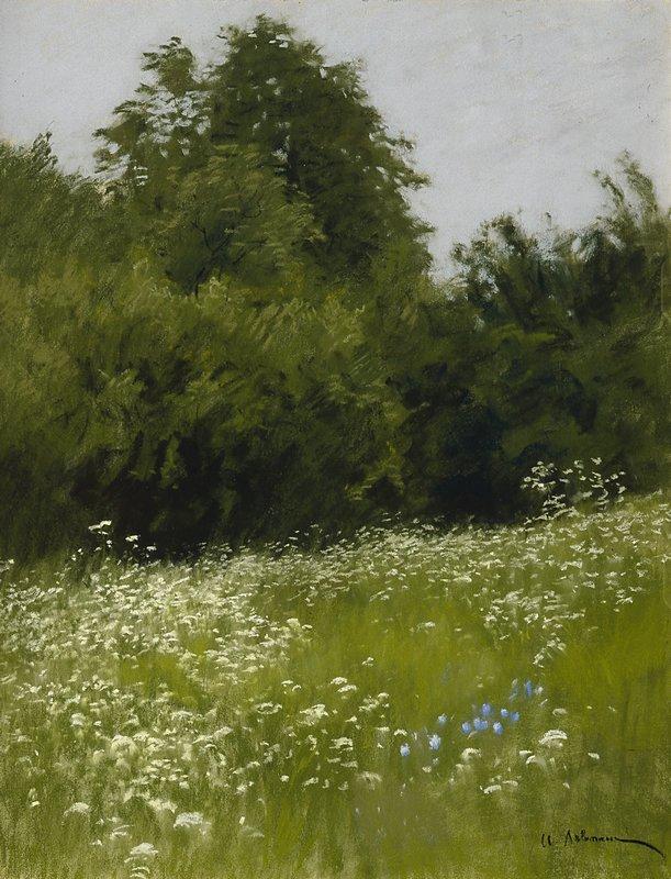 Левитан ИИ Луг на опушке леса (Опушка леса) 1898 б пастель 63х49 ГРМ