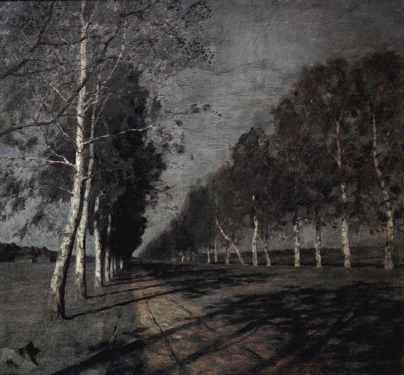 Левитан ИИ Лунная ночь Большая дорога 1897-98 хм 83х87 ГТГ