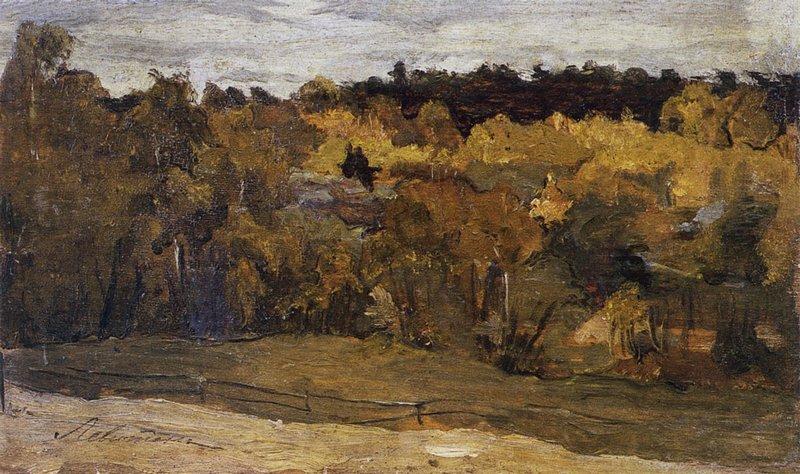 Левитан ИИ Осенний лес 1890е дм 14х23 ГРМ