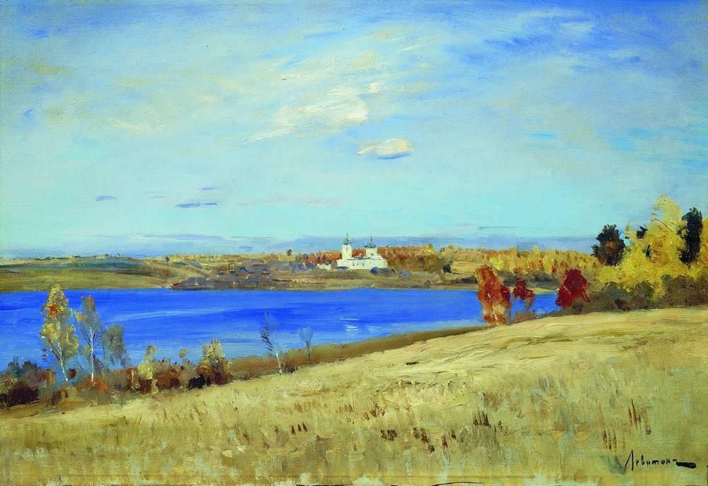 Левитан ИИ Осень Река 1898-99 хм 32х46 Частное собрание
