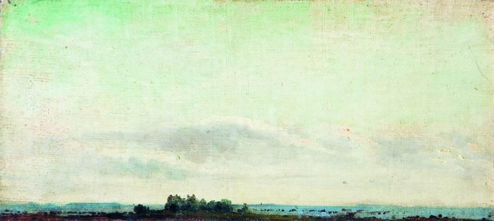 Левитан ИИ Пейзаж Дали 1880е хм Частное собрание