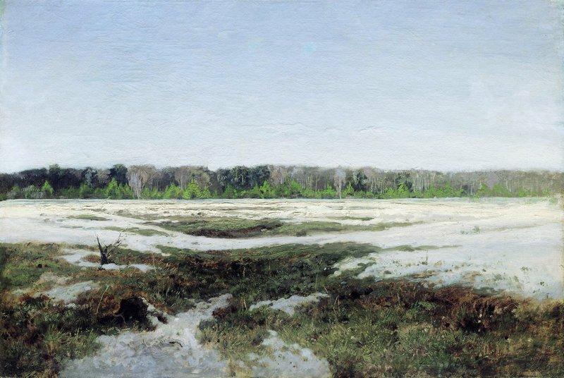 Левитан ИИ Ранняя весна 1890е хм 49х72 Таганрогская картинная галерея
