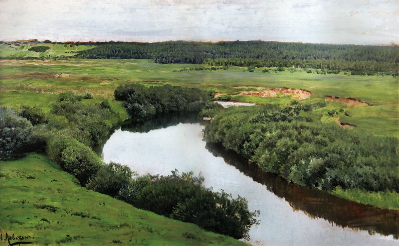 Левитан ИИ Река Истра 1885 хм 43х63 Дом-музей АП Чехова Ялта