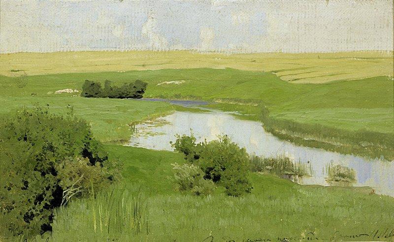 Левитан ИИ Речка Истра 1885-86 хм 15х24 ГТГ