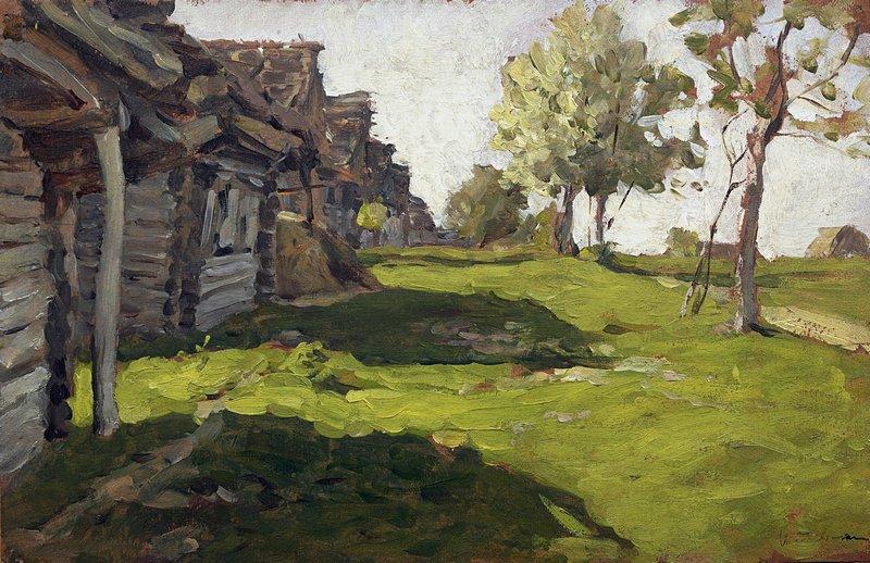 Левитан ИИ Солнечный день Деревня 1898 бм 14х23 ГТГ