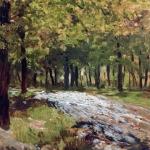 Левитан ИИ Дорога в лесу 1880е бкм 37х28 Астраханская гос картинная галерея
