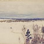 Левитан ИИ Зима 1895 бк акв 15х31 ГТГ