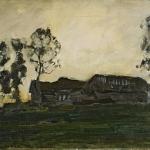Левитан ИИ Избы 1899 хм 50х75 Нижегородский х м