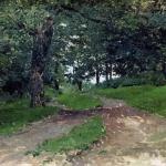 Левитан ИИ Лес 1880е хм 22х32 Дагестанский музей изобразительных искусств имени ПС Гамзатовой