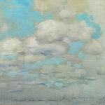 Левитан ИИ Облака 1890е хкм 21х31 Гоосударственный художественный музей Алтайского края