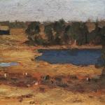 Левитан ИИ Озеро Сараи у лесной опушки 1899 км ГРМ