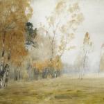 Левитан ИИ Осень Туман 1899 бк акв белила 48х60 ГРМ