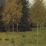 Левитан ИИ Осень 1889 хм 45х76 Гос музей Республики Беларусь