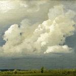 Левитан ИИ Перед грозой (Облако) 1890е хм 26х35 Смоленский государственный музей-заповедник