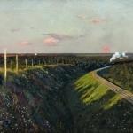 Левитан ИИ Поезд в пути 1890е хм 59х76 Одесский художественный музей