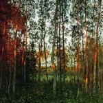 Левитан ИИ Последние лучи солнца Осиновый лес 1897 хм 63х56 Местонахождение неизвестно