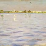 Левитан ИИ Послендние лучи Озеро 1898-99 бкм 17х26