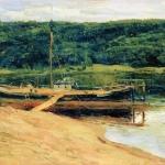 Левитан ИИ Серый день Лес над рекой 1888 хм 17х24 ГТГ