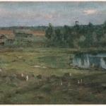 Левитан ИИ Серый день 1890е хм 42х67 Музей ИИ Бродского