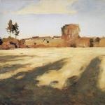 Левитан ИИ Сжатое поле 1897 км 59х73 Национальная галерея Армении