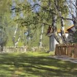 Левитан ИИ Солнечный день 1898 хм 35х44 Национальная галерея Армении