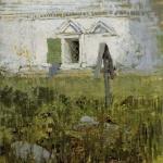 Левитан ИИ  У церковной стены 1885  хм 24х21  ГТГ