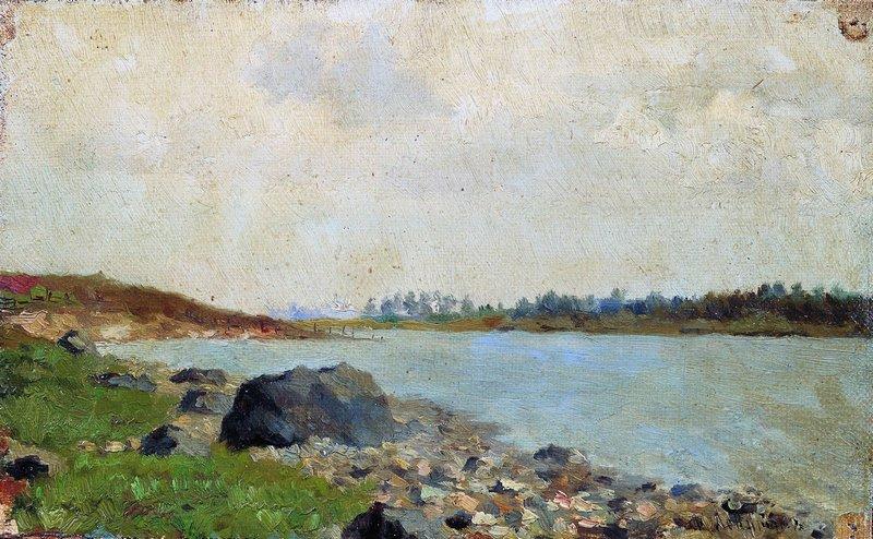 Левитан ИИ  На Москве-реке 1877  хм  Частное собрание