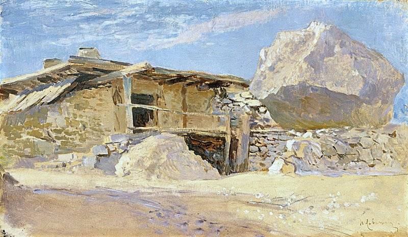 Левитан ИИ Сакля в Алупке 1886 бкм 19х33 ГТГ