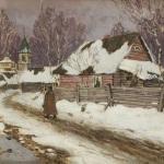 Левитан ИИ  Зима в деревне