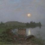 Левитан ИИ  На озере 1893  к пастель 48х62  Частное собрание
