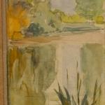 Левитан ИИ  Пруд Около 1887 к акв графитный карандаш 16х5  ГТГ